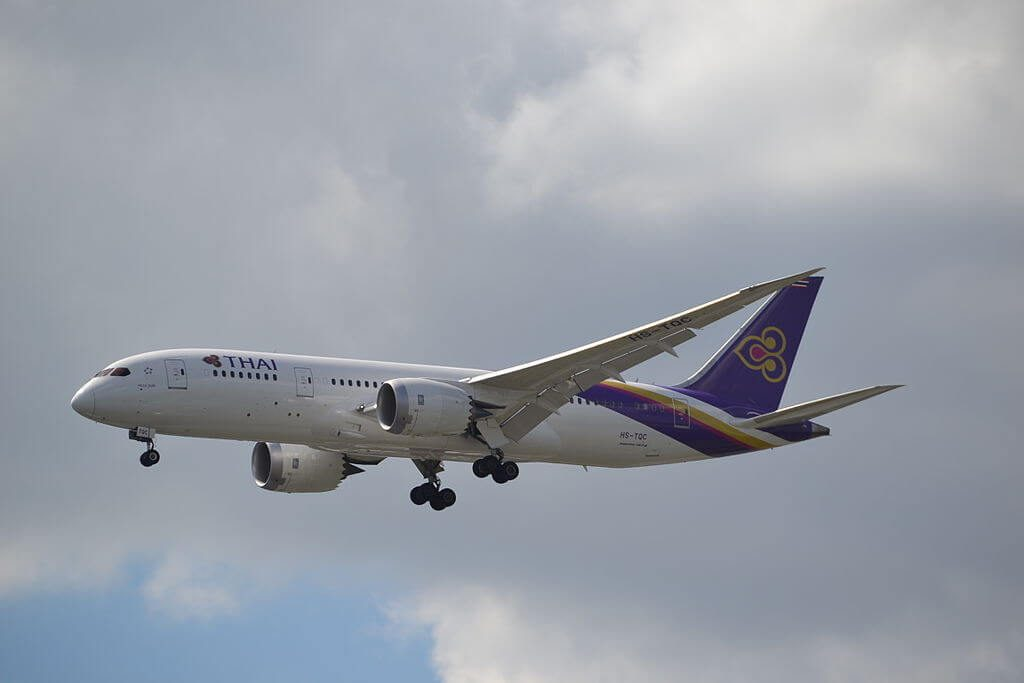 THAI Airways Boeing 787 8 Dreamliner HS TQC Pran Buri ปราณบุรี at Suvarnabhumi International Airport
