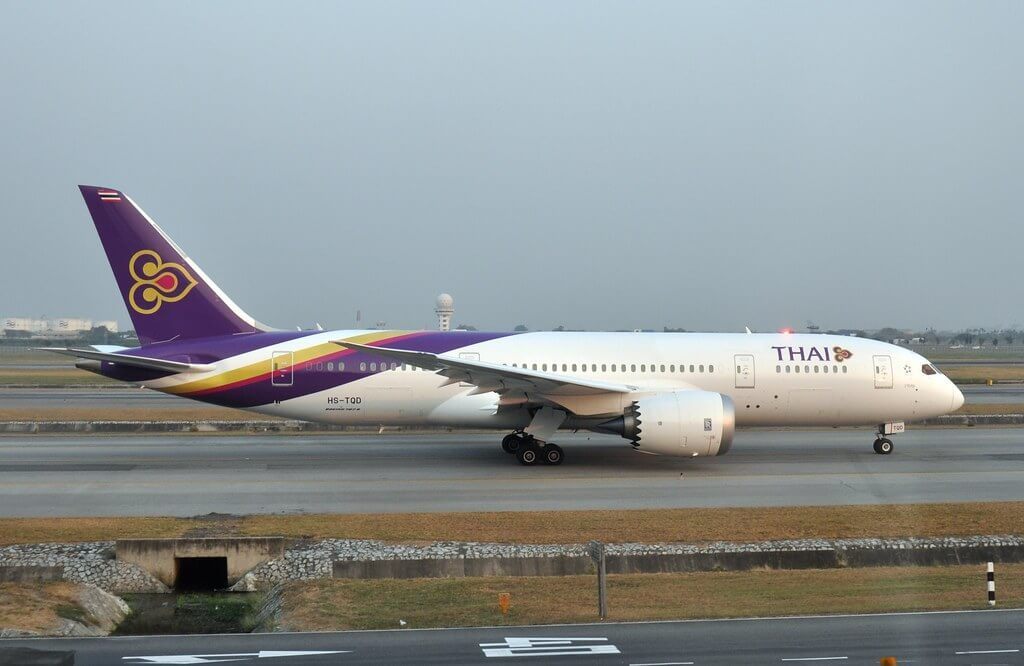 THAI Airways Boeing 787 8 Dreamliner HS TQD Wapi Pathum วาปีปทุม