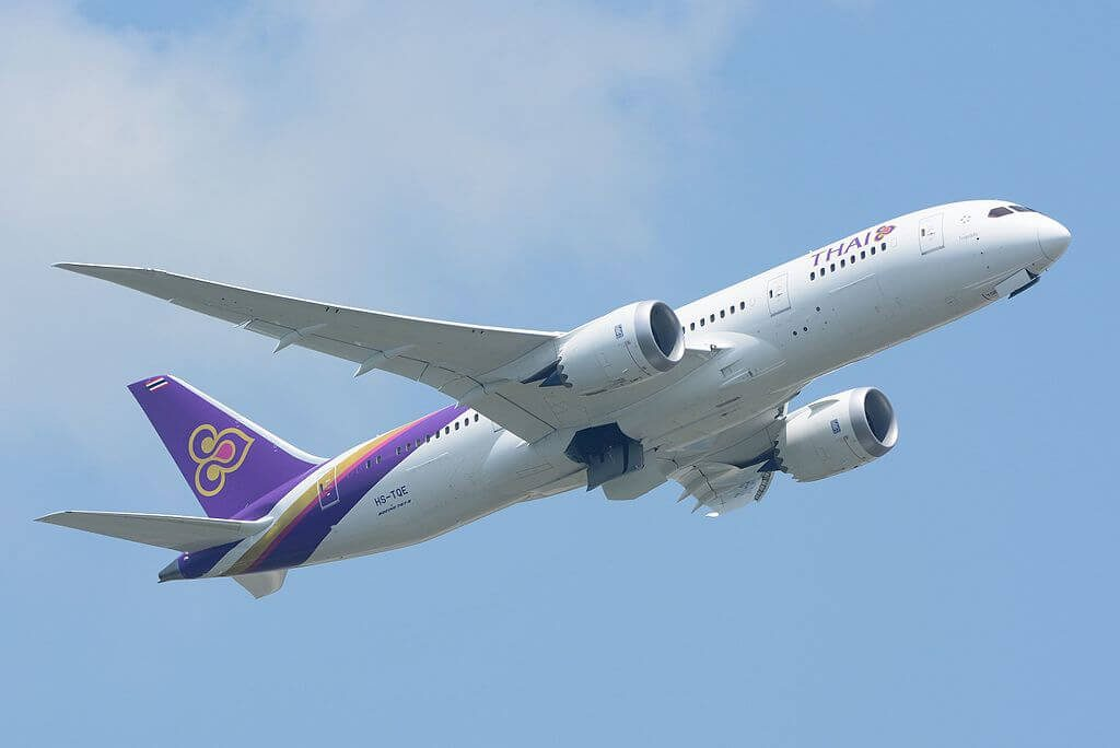 THAI Airways Boeing 787 8 Dreamliner HS TQE Kosum Phisai โกสุมพิสัย at Narita International Airport