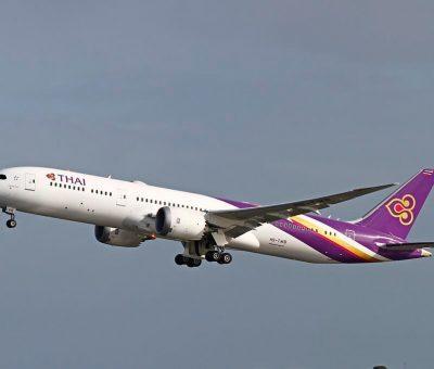 THAI Airways Boeing 787 9 Dreamliner HS TWB Phrom Buri พรหมบุรี at Perth Airport