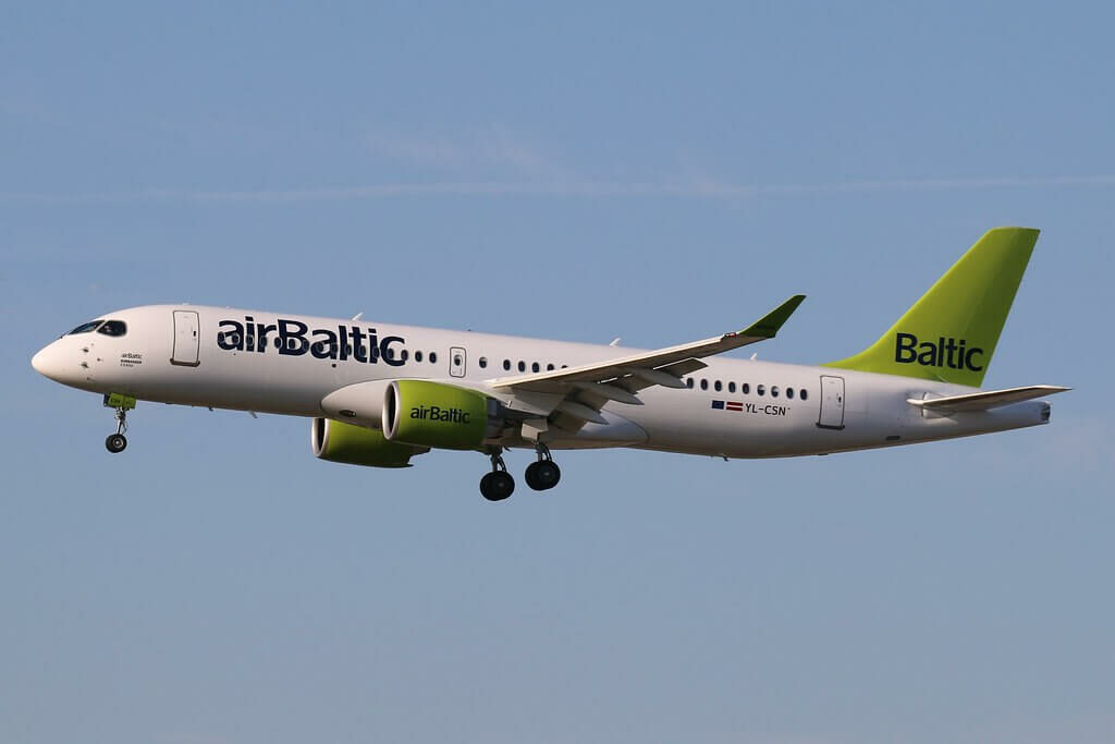 Airbus A220 300 CS300 YL CSN airBaltic