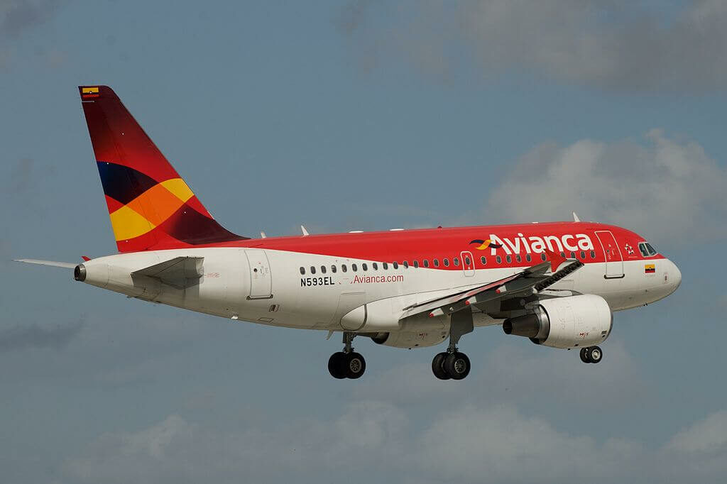 Airbus A318 111 N593EL Avianca at Miami International Airport