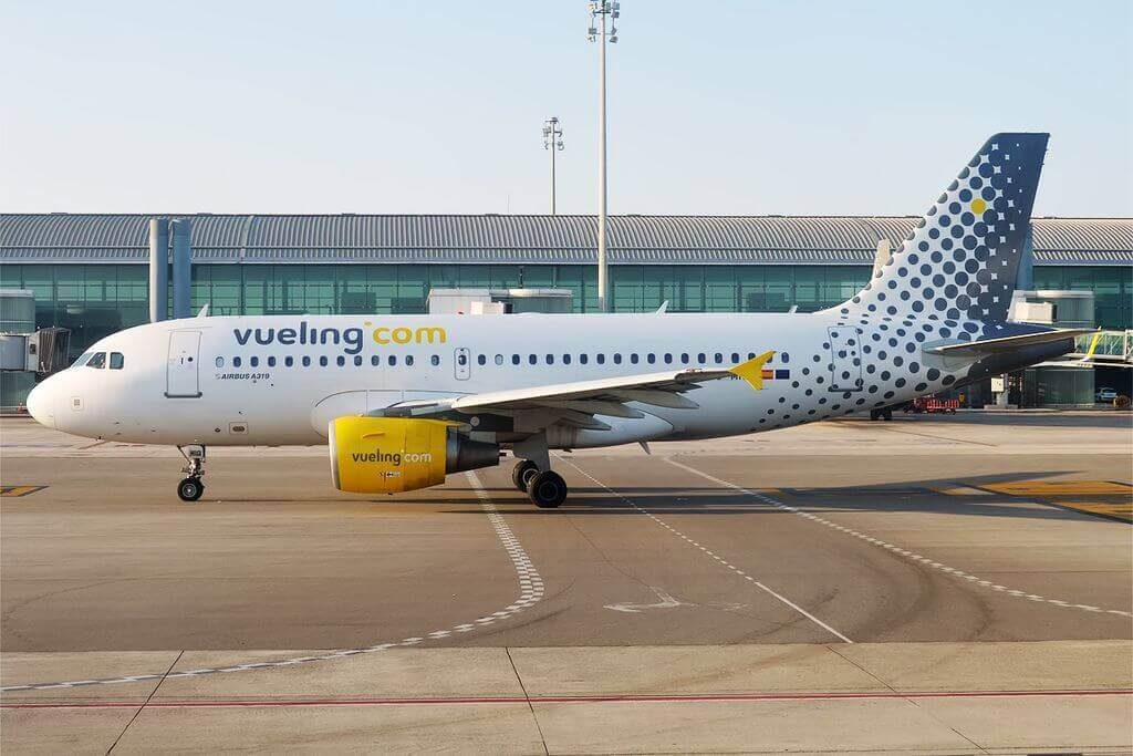 Airbus A319 112 EC MIQ Vueling Airlines at Barcelona Airport