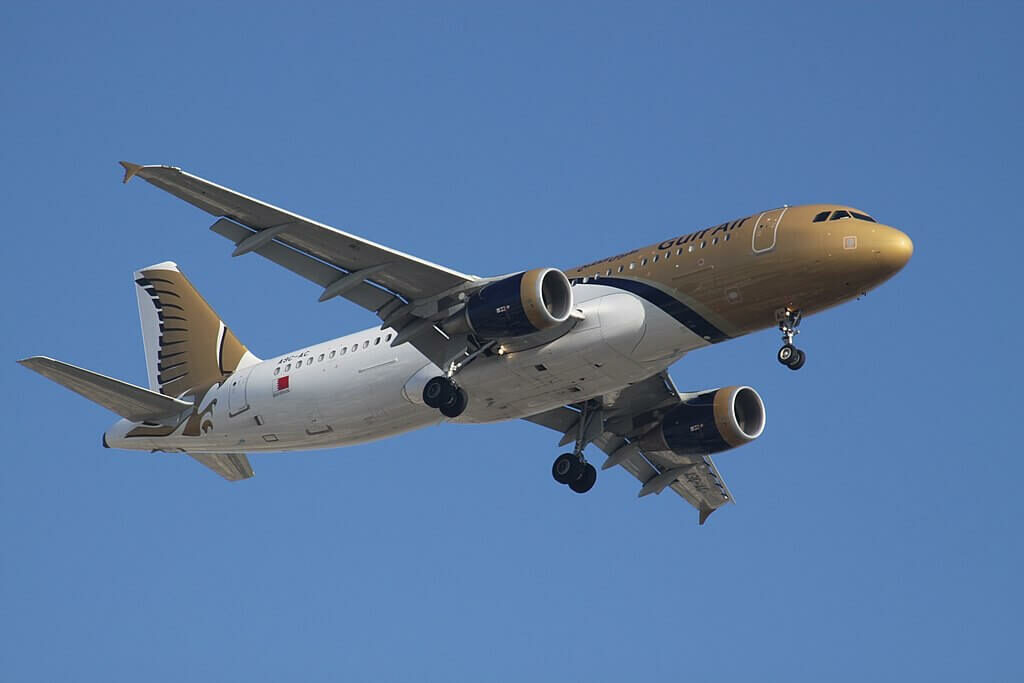Airbus A320 214 A9C AC Gulf Air at Dubai International Airport