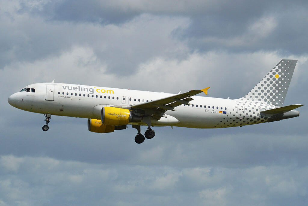 Airbus A320 214 EC JGM Vueling Airlines at London Heathrow Airport