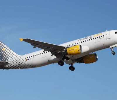 Airbus A320 214 EC JSY Vueling Airlines at Palma de Mallorca Airport