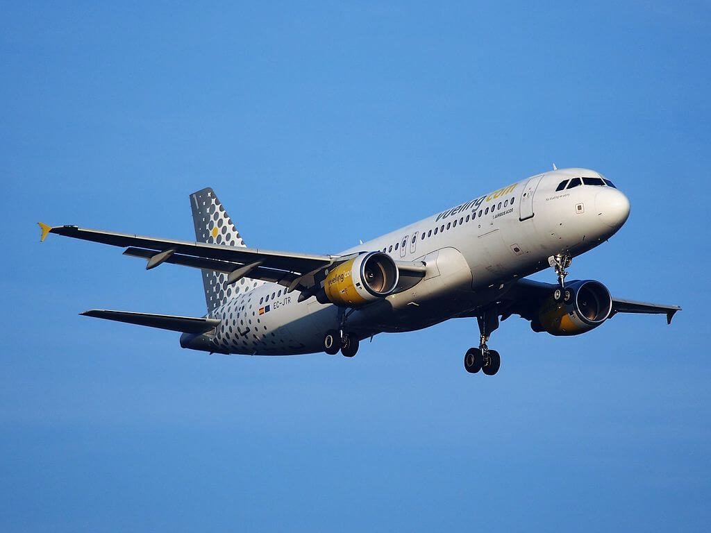 Airbus A320 214 EC JTR Vueling Airlines at Amsterdam Airport Schiphol