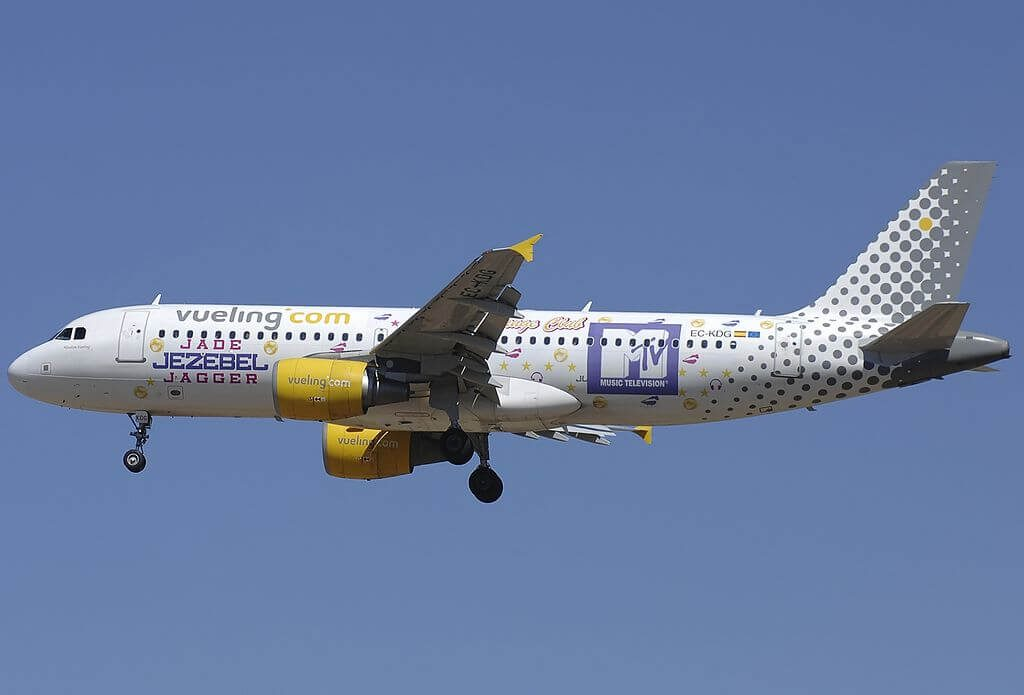 Airbus A320 214 EC KDG MTV Livery Vueling Airlines at Fiumicino Airport