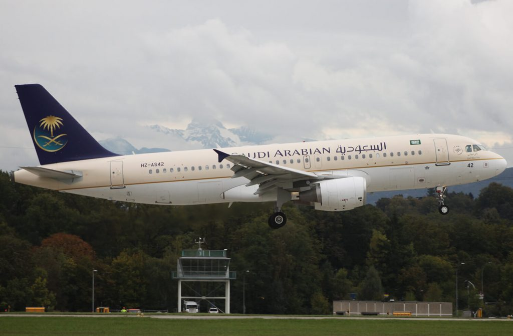 Airbus A320 214 HZ AS42 Saudia