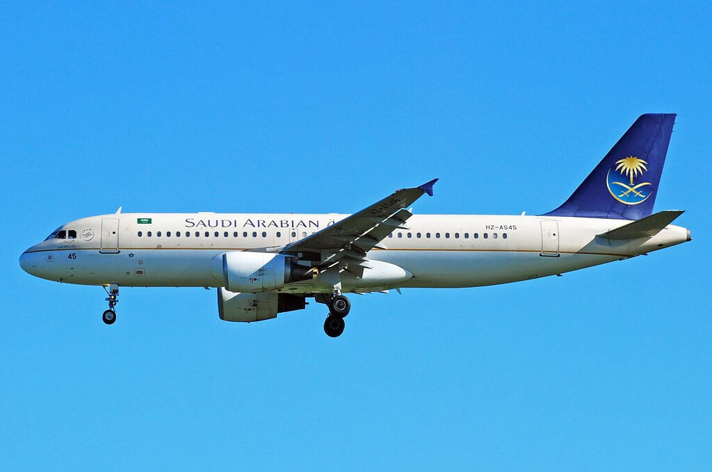 Airbus A320 214 HZ AS45 Saudia