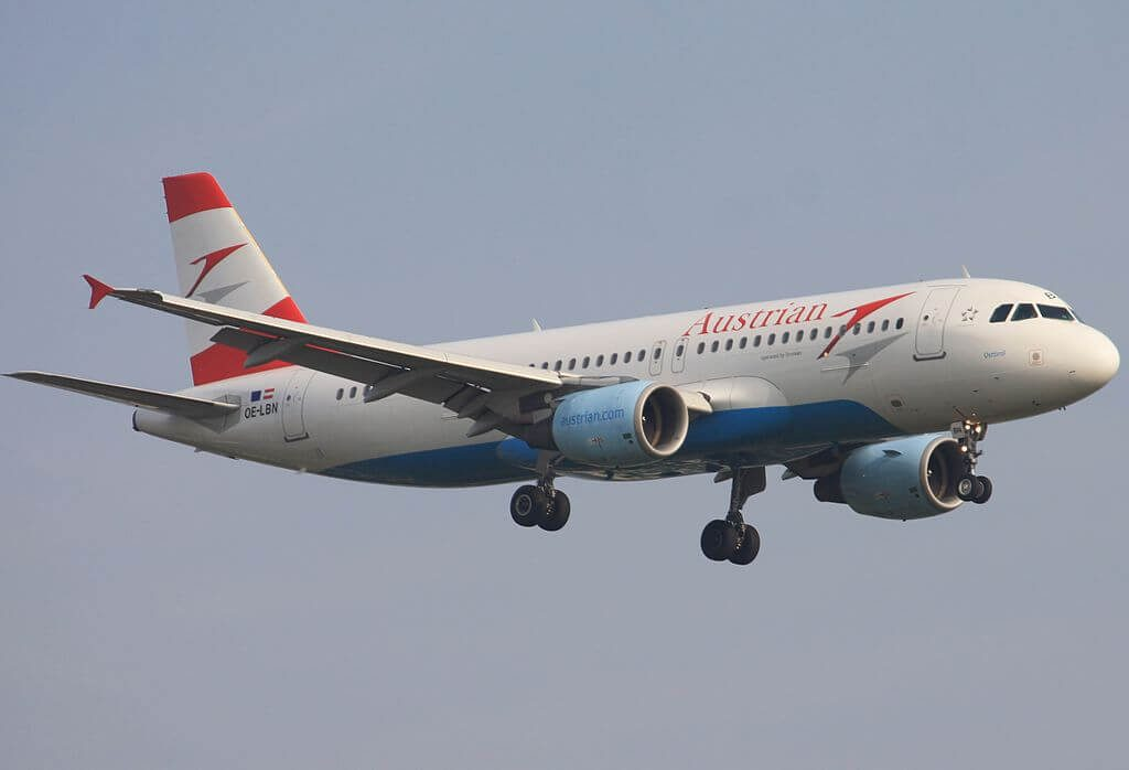 Airbus A320 214 OE LBN Osttirol Austrian Airlines at London Heathrow Airport