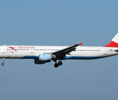 Airbus A321 211 OE LBD Steirisches Weinland Austrian Airlines at Fiumicino Airport