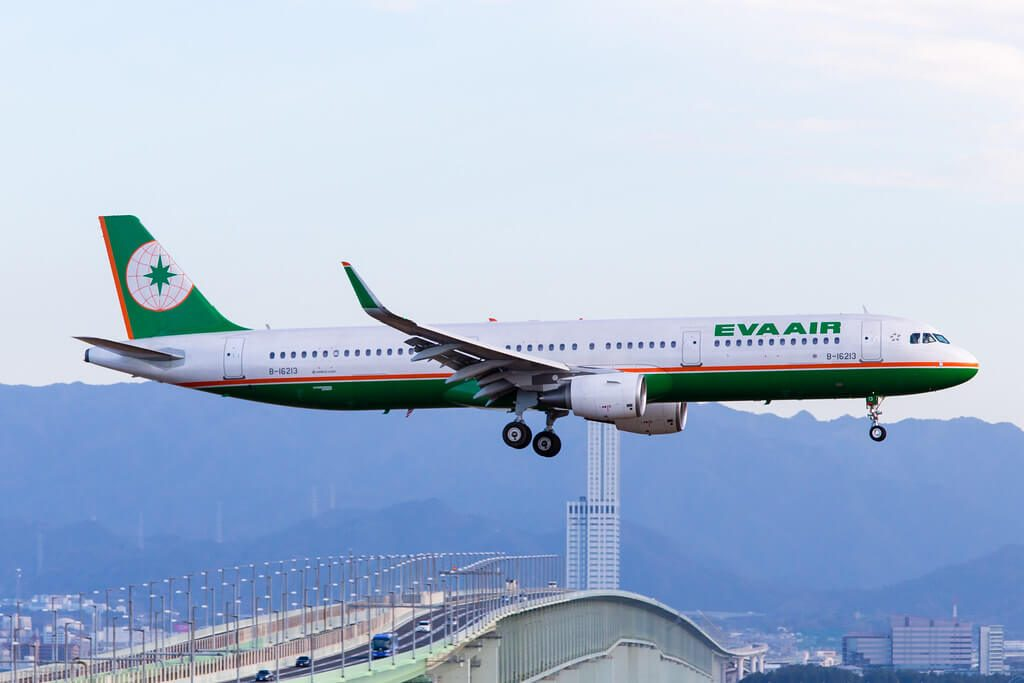 Airbus A321 211WL EVA Air B 16213 at Kansai International Airport