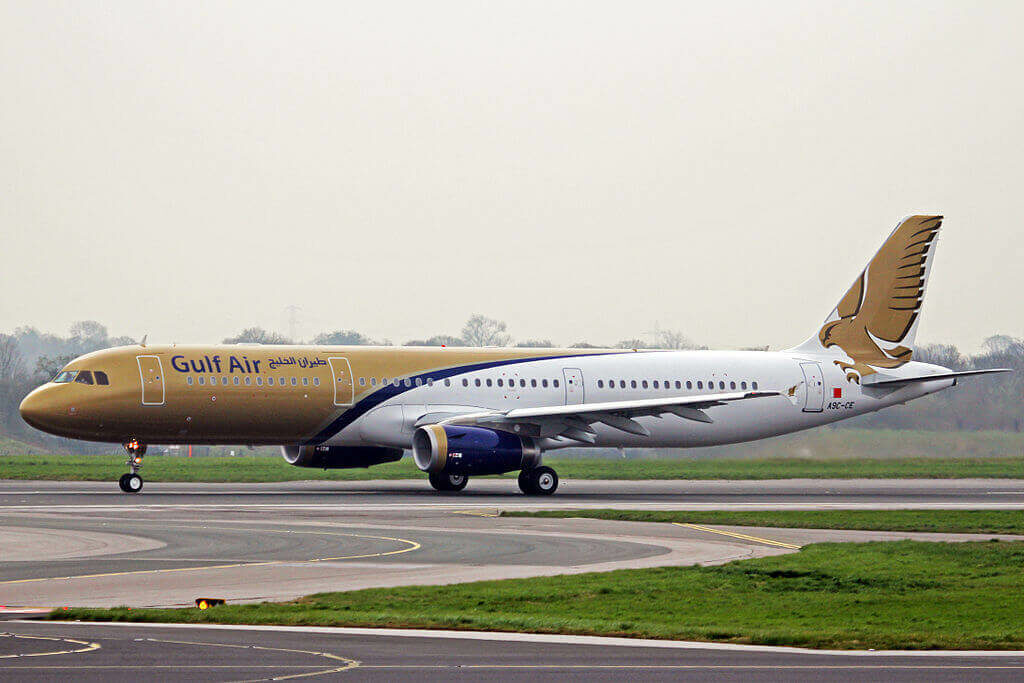 Airbus A321 231 A9C CE Gulf Air at Manchester Airport