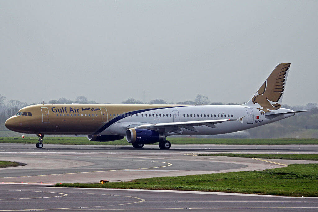 Airbus A321 231 A9C CF Gulf Air at Manchester Airport