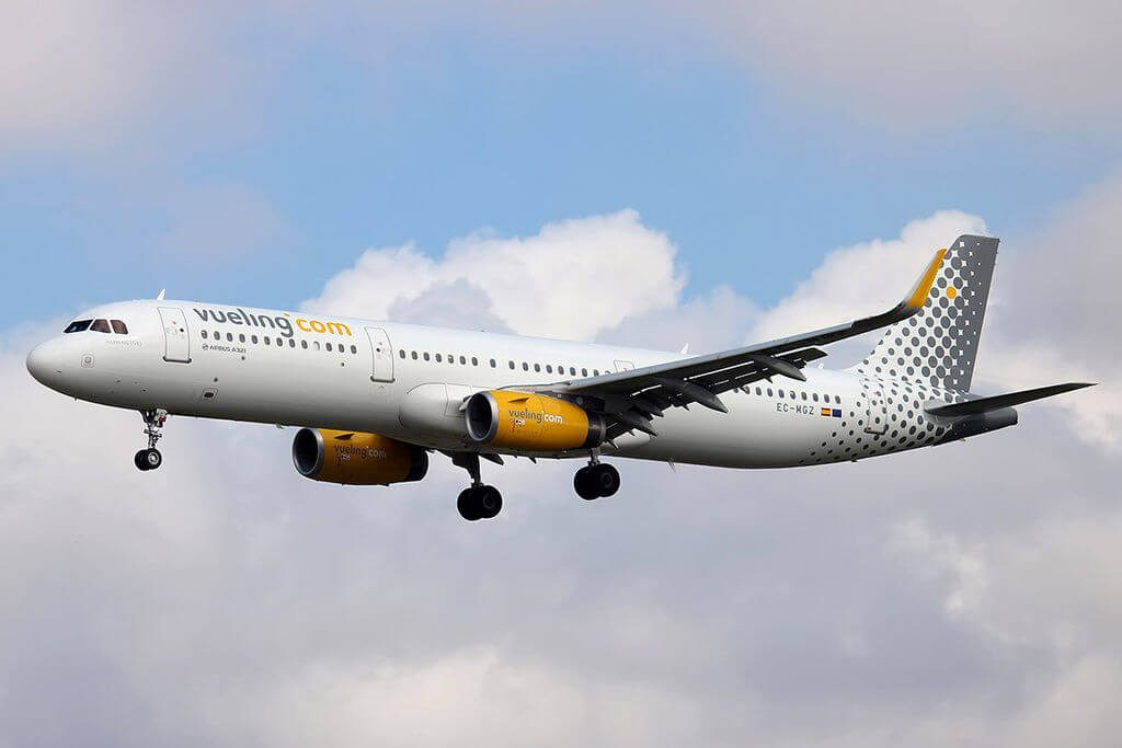 Airbus A321 231WL EC MGZ Vueling Airlines at Barcelona Airport