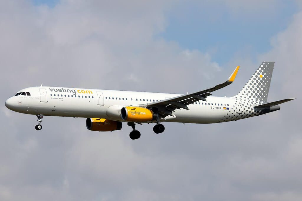 Airbus A321 231WL EC MHA Vueling Airlines at Barcelona Airport
