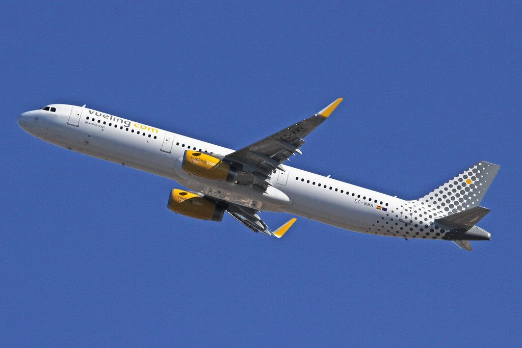Airbus A321 231WL EC MMH Vueling Airlines at Barcelona Airport