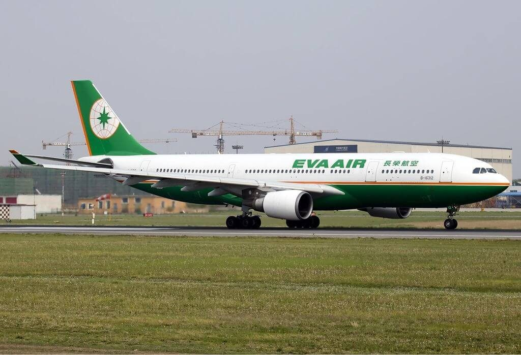 Airbus A330 203 EVA Air B 16312 at Shenyang Taoxian International Airport