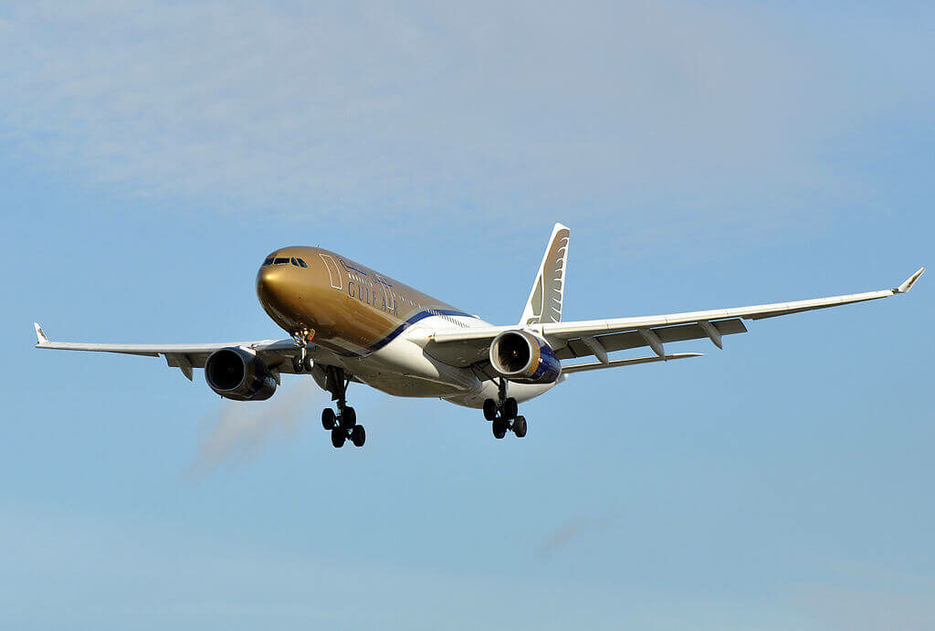 Airbus A330 243 A9C KE Gulf Air at London Heathrow Airport
