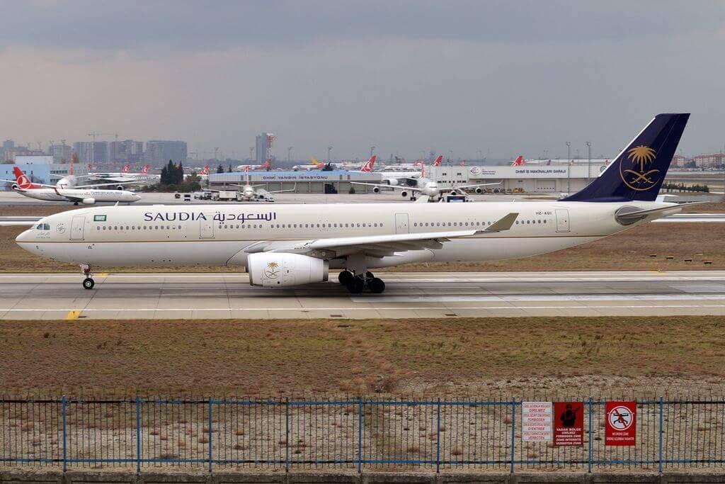 Airbus A330 343 HZ AQ11 Saudi Arabian Airlines at Istanbul Atatürk Airport