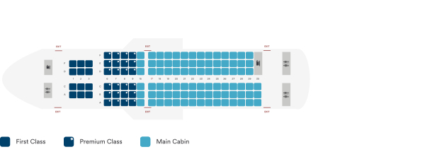 Alaska Airlines Airbus A319 100 Seating Plan After Retrofit