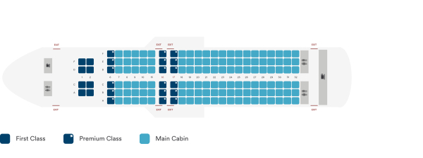 Alaska Airlines Airbus A320 200 Seating Plan Before Retrofit