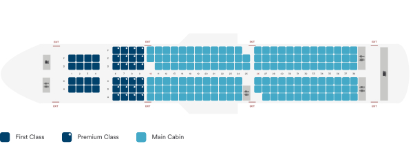 Alaska Airlines Airbus A321neo Seating Plan After Retrofit