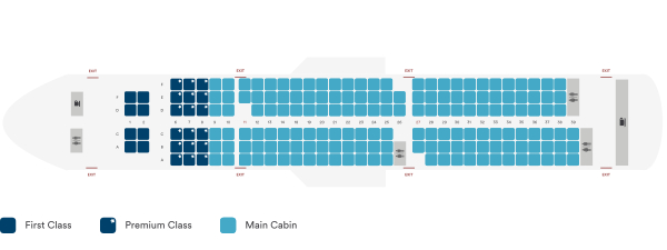 Alaska Airlines Airbus A321neo Seating Plan Before Retrofit