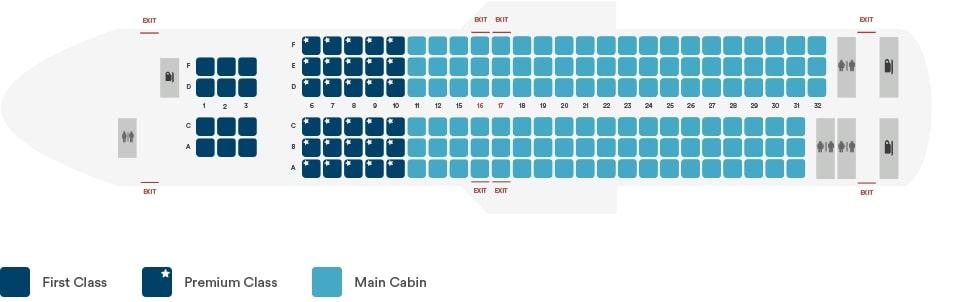 Alaska Airlines Boeing 737 800 Seating Plan