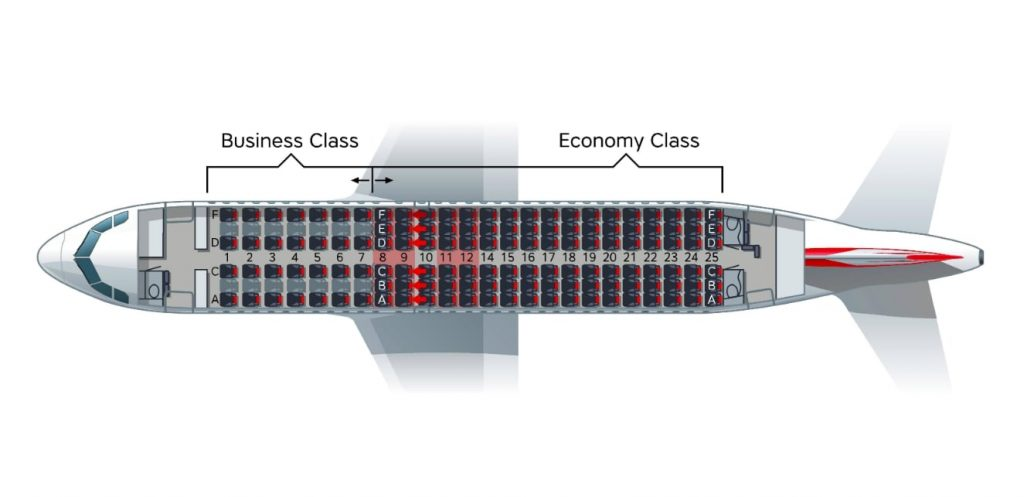 Austrian Airlines Airbus A319 100 Seating Plan