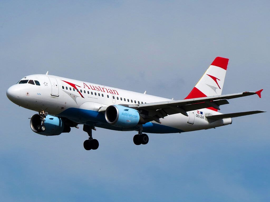 Austrian Airlines Airbus A319 112 OE LDA Sofia at Frankfurt Airport