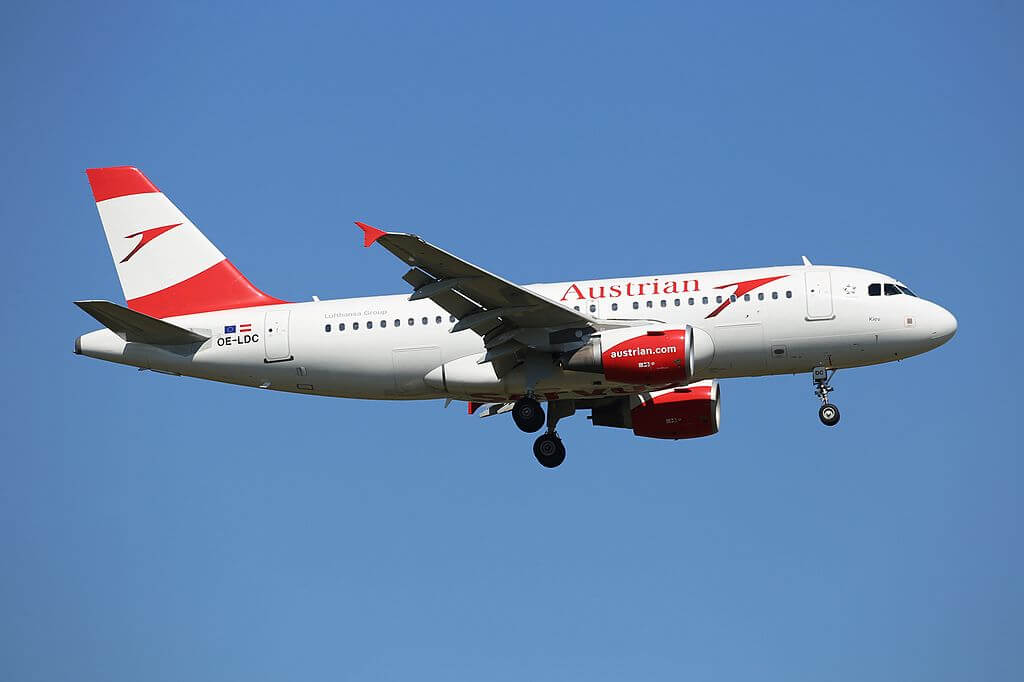 Austrian Airlines Airbus A319 112 OE LDC Kiev at Frankfurt Airport