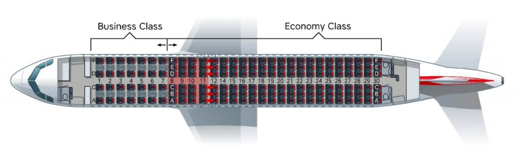 Austrian Airlines Airbus A320 200 Seating Plan
