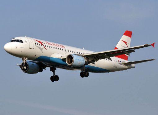 Austrian Airlines Airbus A320 214 OE LBQ Wienerwald at London Heathrow Airport