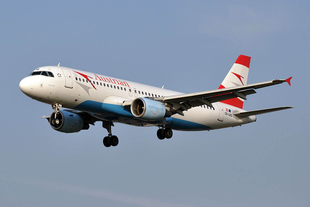 Austrian Airlines Airbus A320 214 OE LBQ Wienerwald at London Heathrow Airport