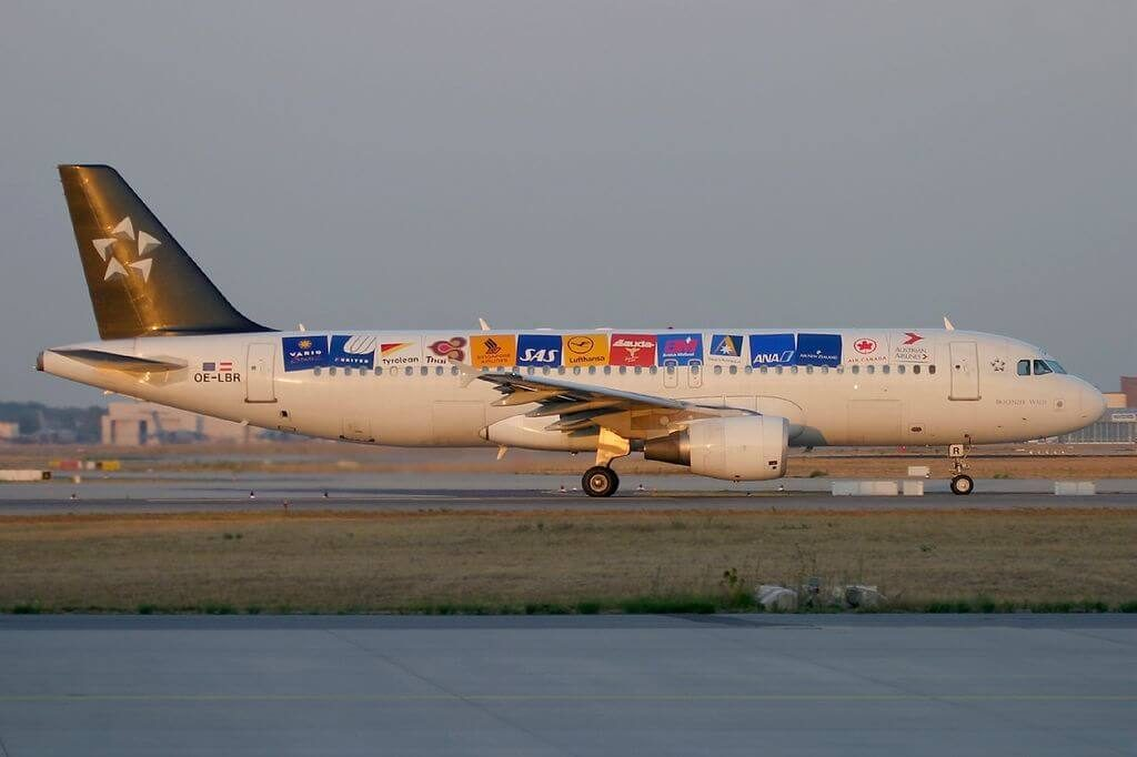 Austrian Airlines Airbus A320 214 OE LBR Bregenzer Wald Star Alliance Livery at Frankfurt Airport