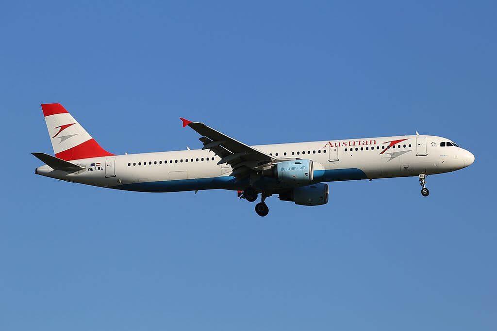 Austrian Airlines Airbus A321 211 OE LBE Wachau at Frankfurt Airport