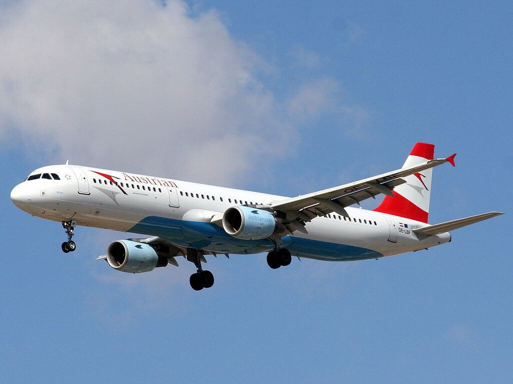 Austrian Airlines Airbus A321 211 OE LBF Wien at Ben Gurion International Airport