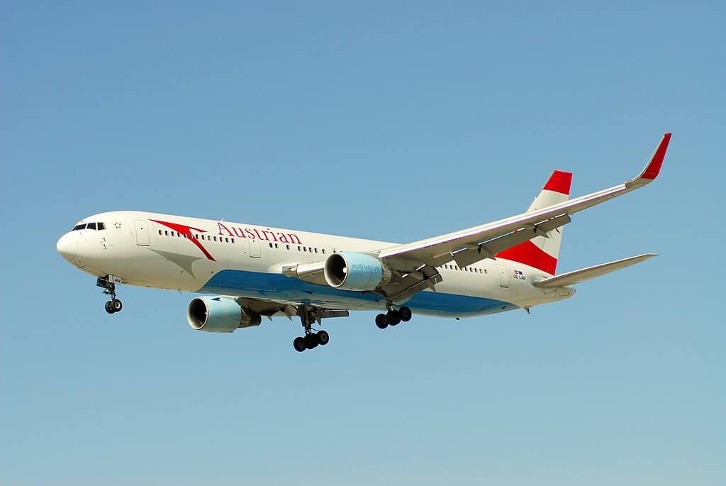 Austrian Airlines Boeing 767 3Z9ERWL OE LAW China at YYZ Airport