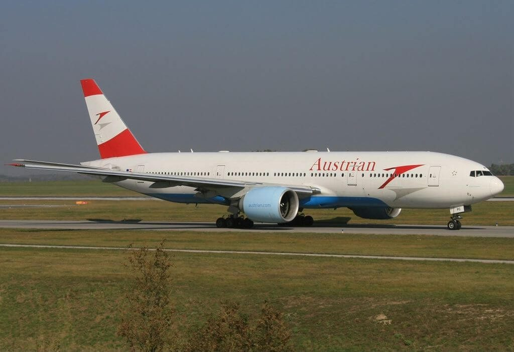 Austrian Airlines Boeing 777 2Z9ER OE LPC Dream of Freedom at Vienna International Airport