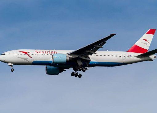 Austrian Airlines Boeing 777 2Z9ER OE LPD Spirit of Austria at Narita International Airport