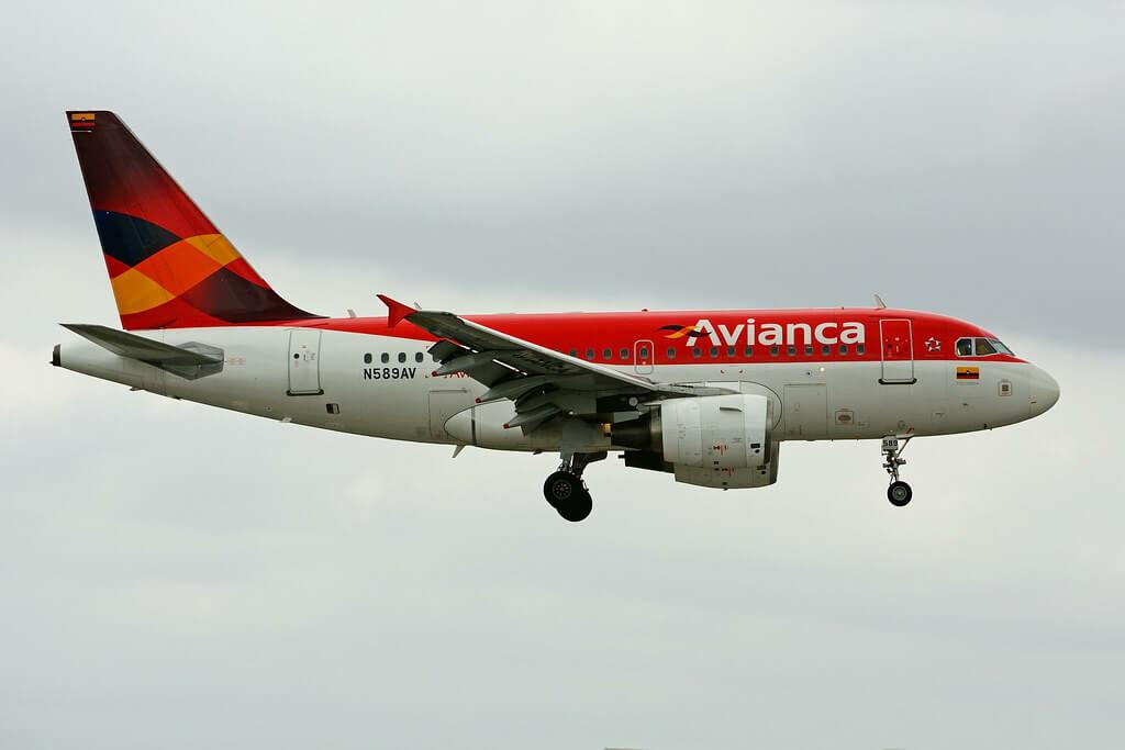 Avianca Airbus A318 112 N589AV