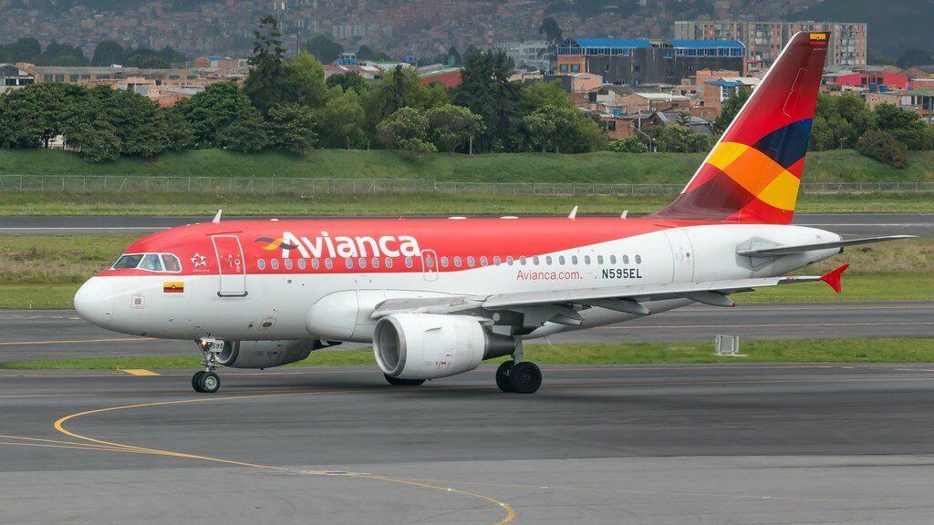 Avianca Airbus A318 112 N595EL at Aeropuerto Internacional El Dorado