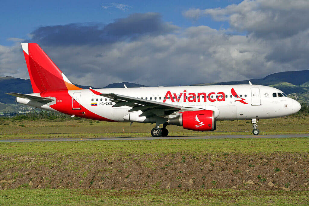 Avianca Airbus A319 112 HC CKN at Mariscal Sucre International Airport