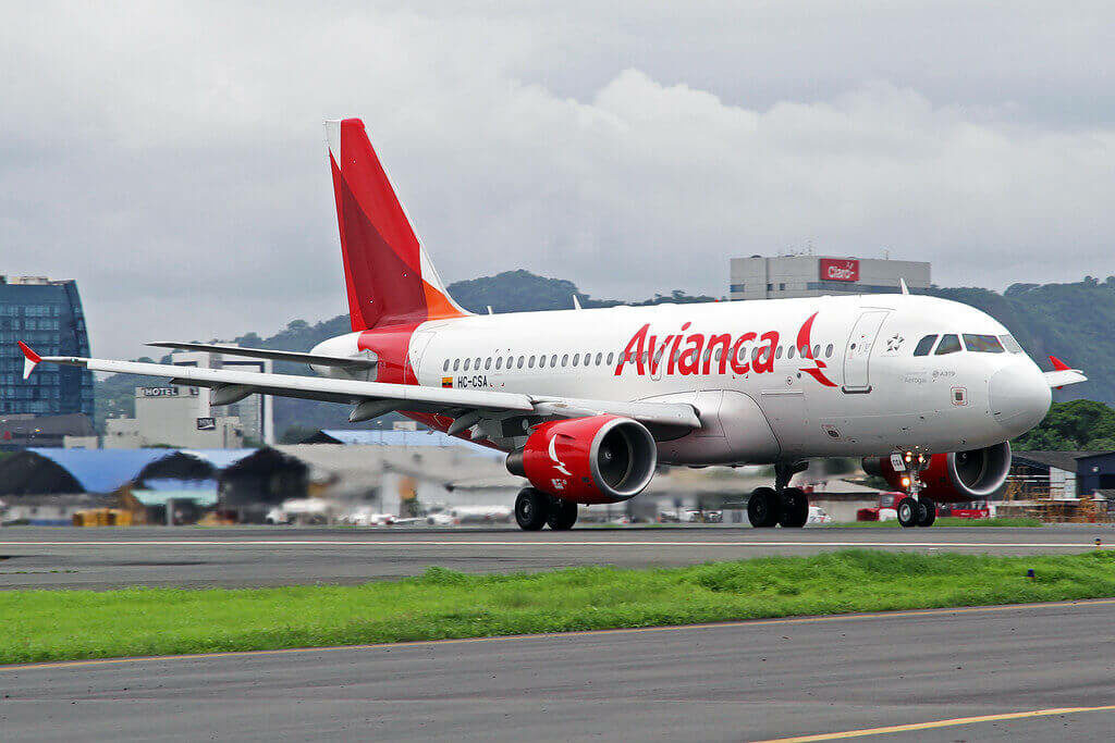 Avianca Airbus A319 115 HC CSA at José Joaquín de Olmedo International Airport