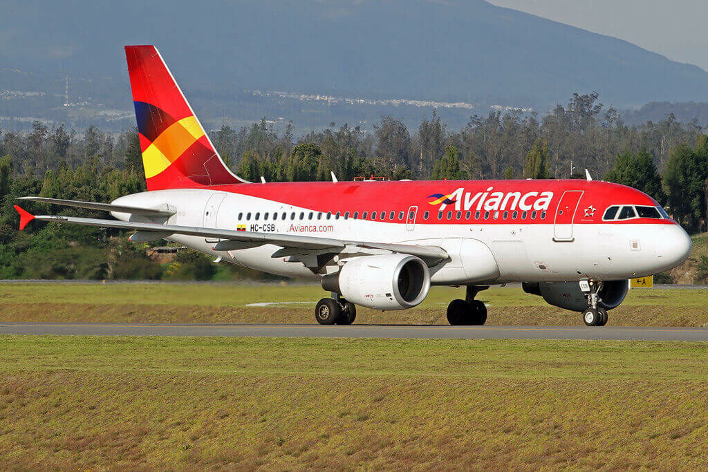Avianca Airbus A319 115 HC CSB at Mariscal Sucre International Airport