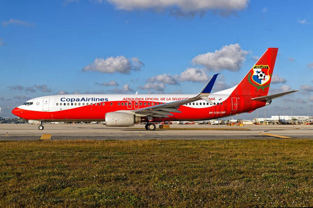 Boeing 737 8V3WL HP 1534CMP Panama National Football Livery at Miami International Airport