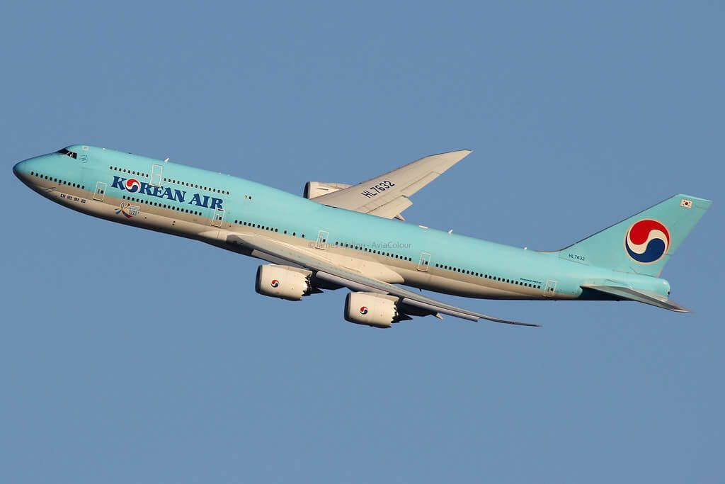 Boeing 747 8B5 Korean Air HL7632 at London Heathrow Airport