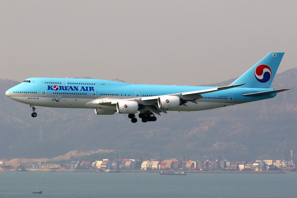 Boeing 747 8B5 Korean Air HL7636 at Hong Kong International Airport